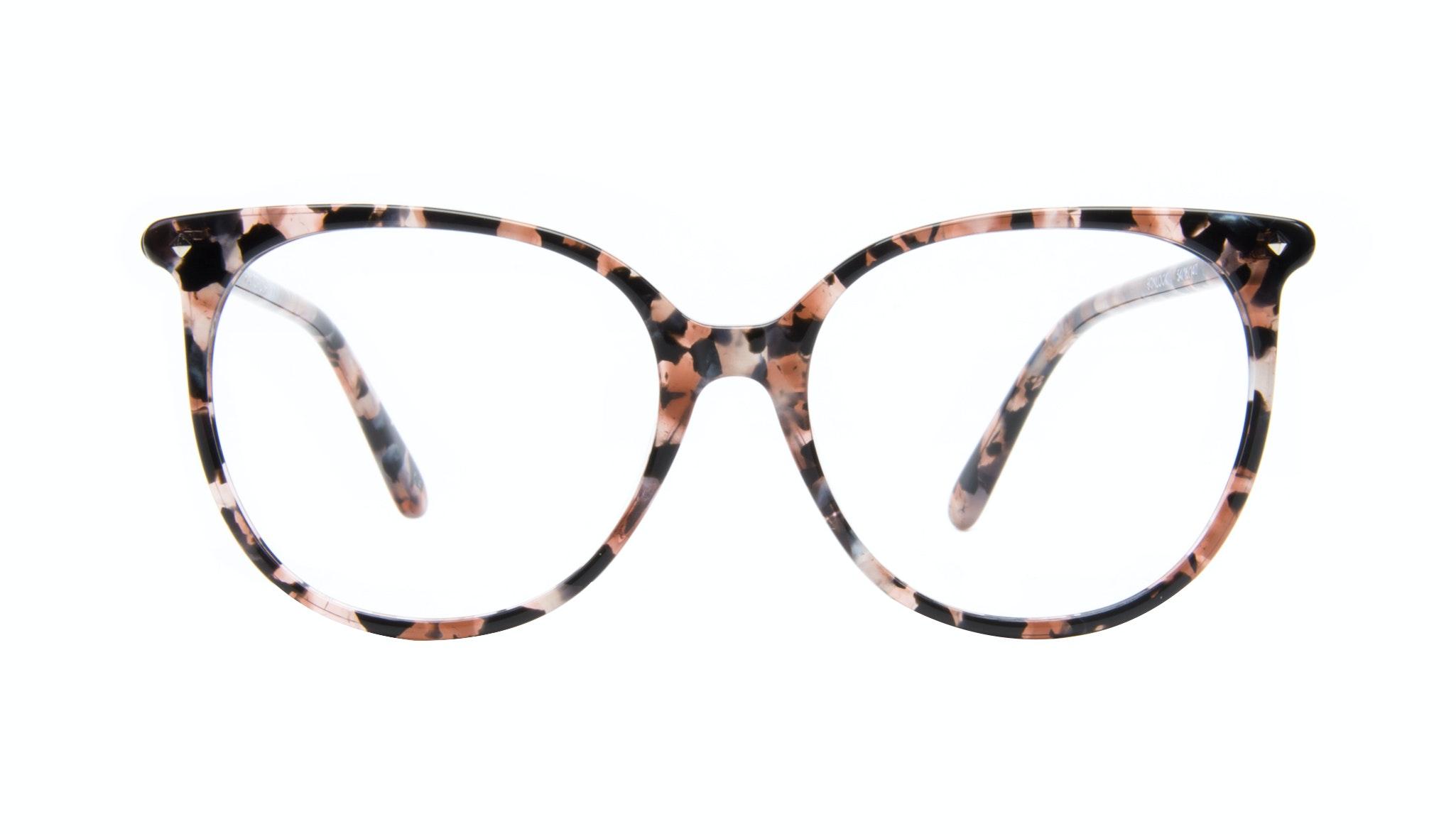 Affordable Fashion Glasses Cat Eye Square Eyeglasses Women Area Pink Tortoise Front