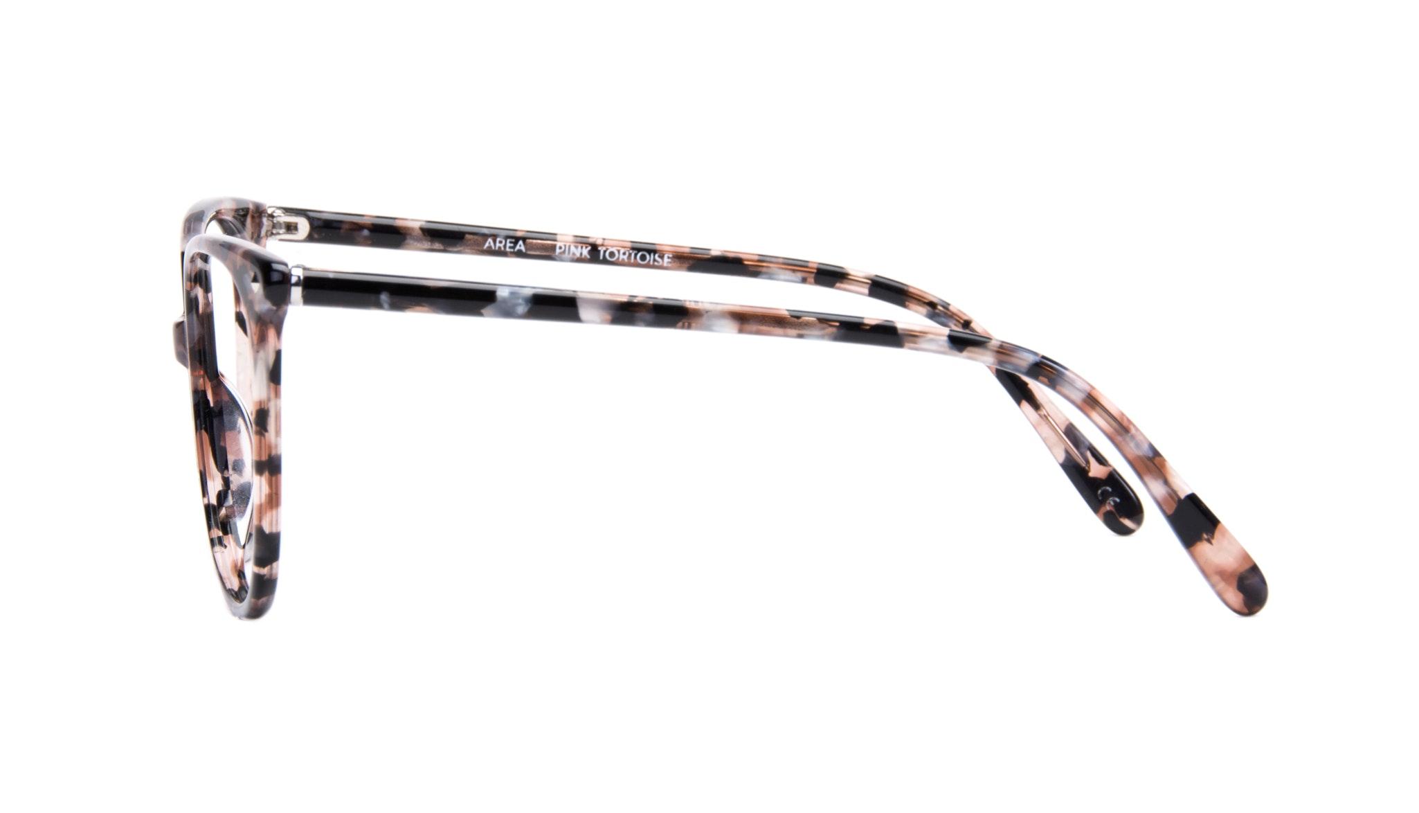 Affordable Fashion Glasses Cat Eye Square Eyeglasses Women Area Pink Tortoise Side