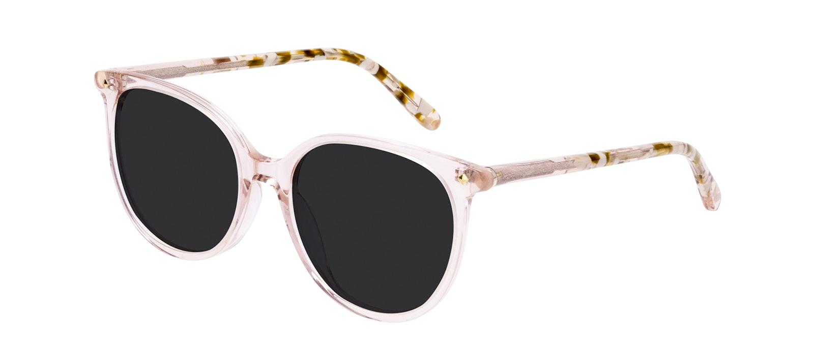Affordable Fashion Glasses Round Sunglasses Women Area Petite Rose Tilt