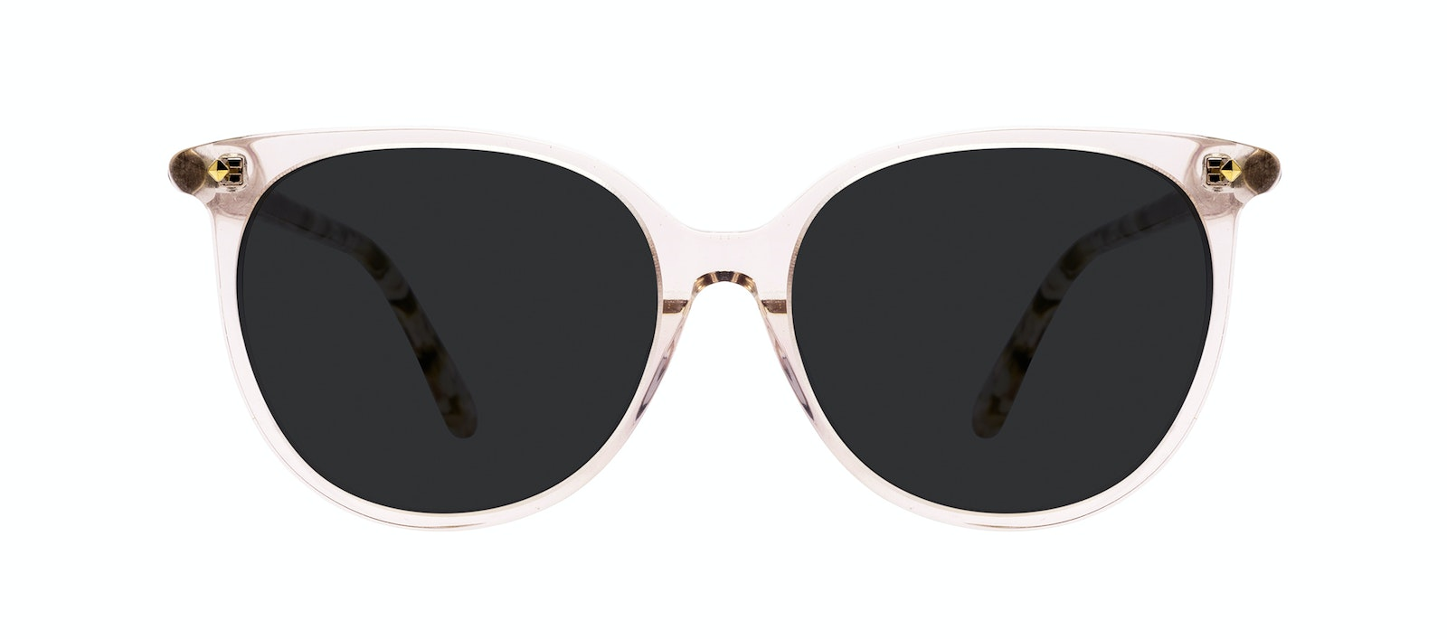 Affordable Fashion Glasses Round Sunglasses Women Area Petite Rose Front
