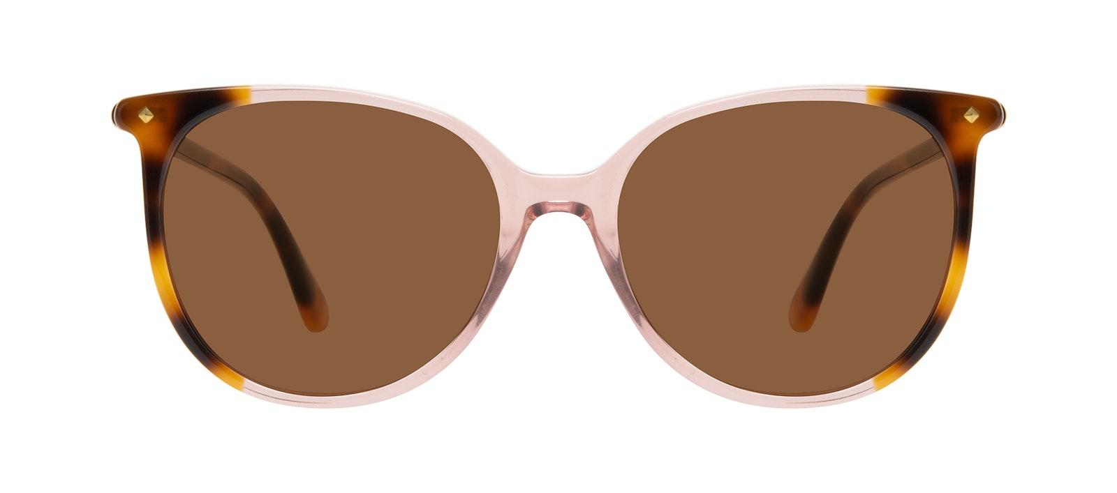 Affordable Fashion Glasses Round Sunglasses Women Area Rose Tort Front
