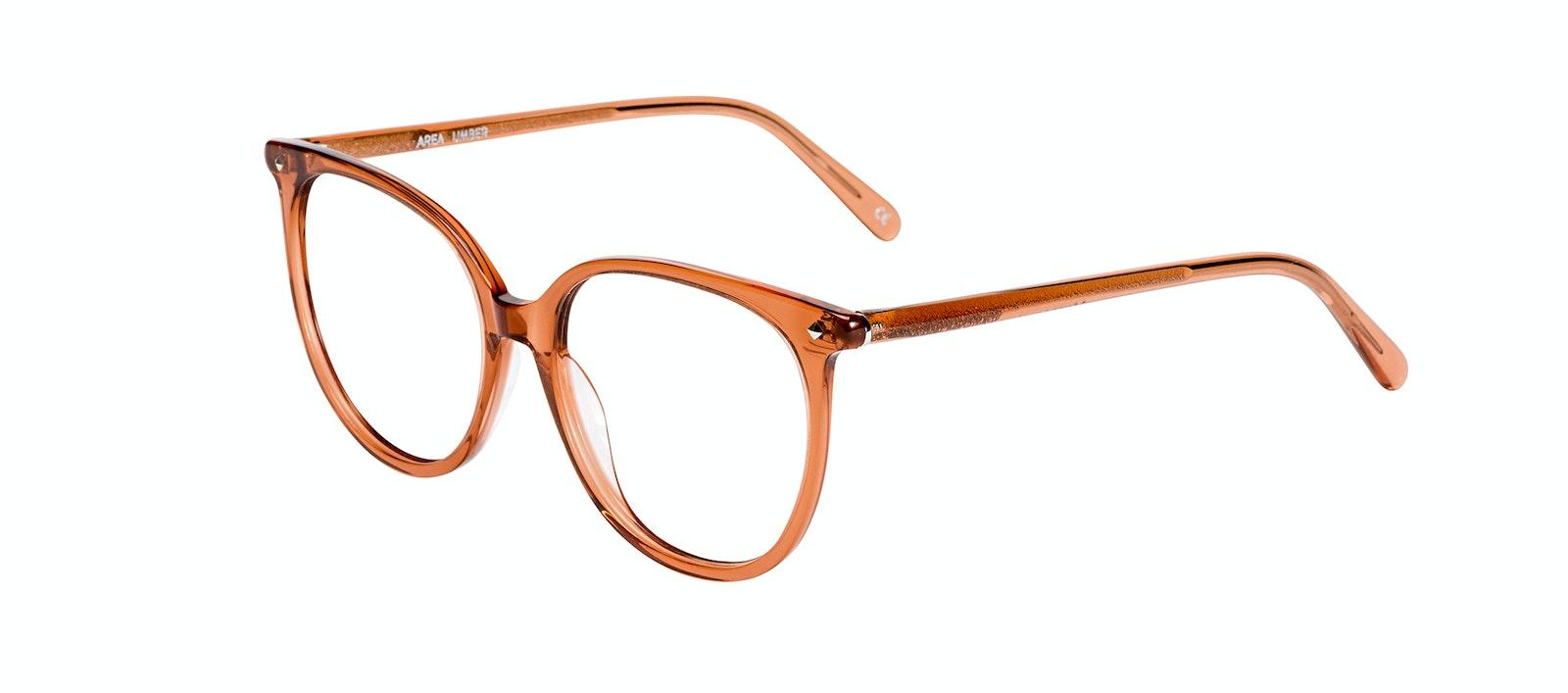 Affordable Fashion Glasses Round Eyeglasses Women Area Umber Tilt