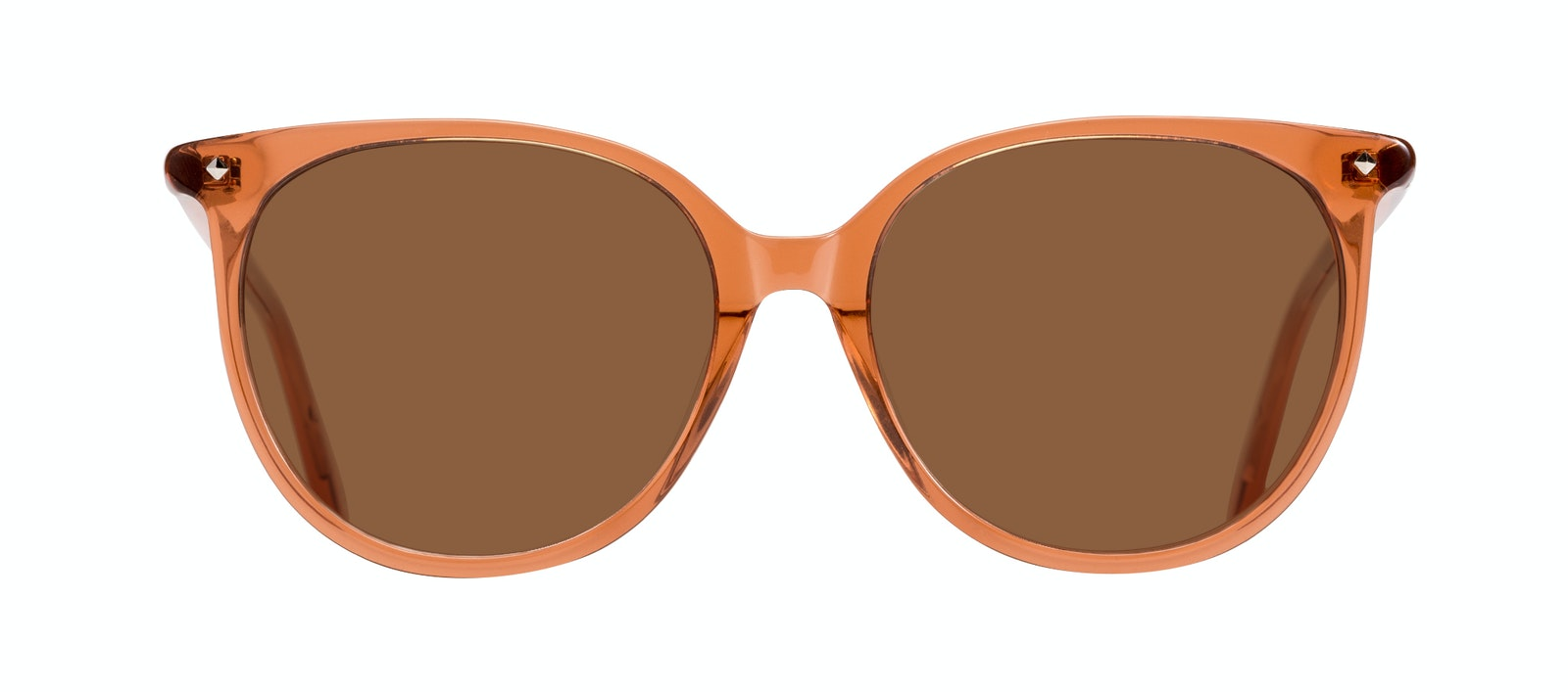 Affordable Fashion Glasses Round Sunglasses Women Area Umber Front