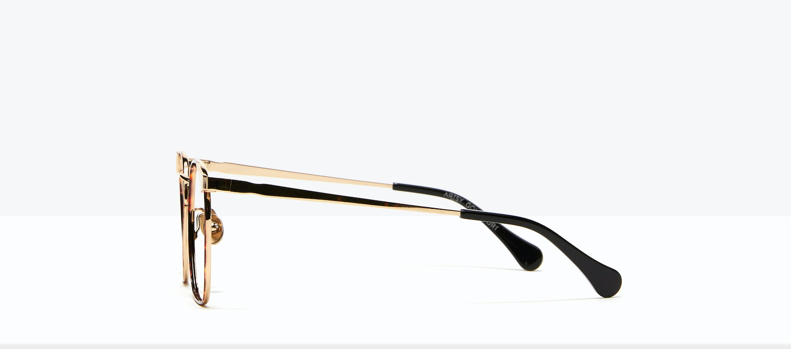 Affordable Fashion Glasses Square Eyeglasses Women Artsy Gold Tort Side