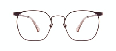 Affordable Fashion Glasses Square Eyeglasses Women Artsy Pink Terra Front