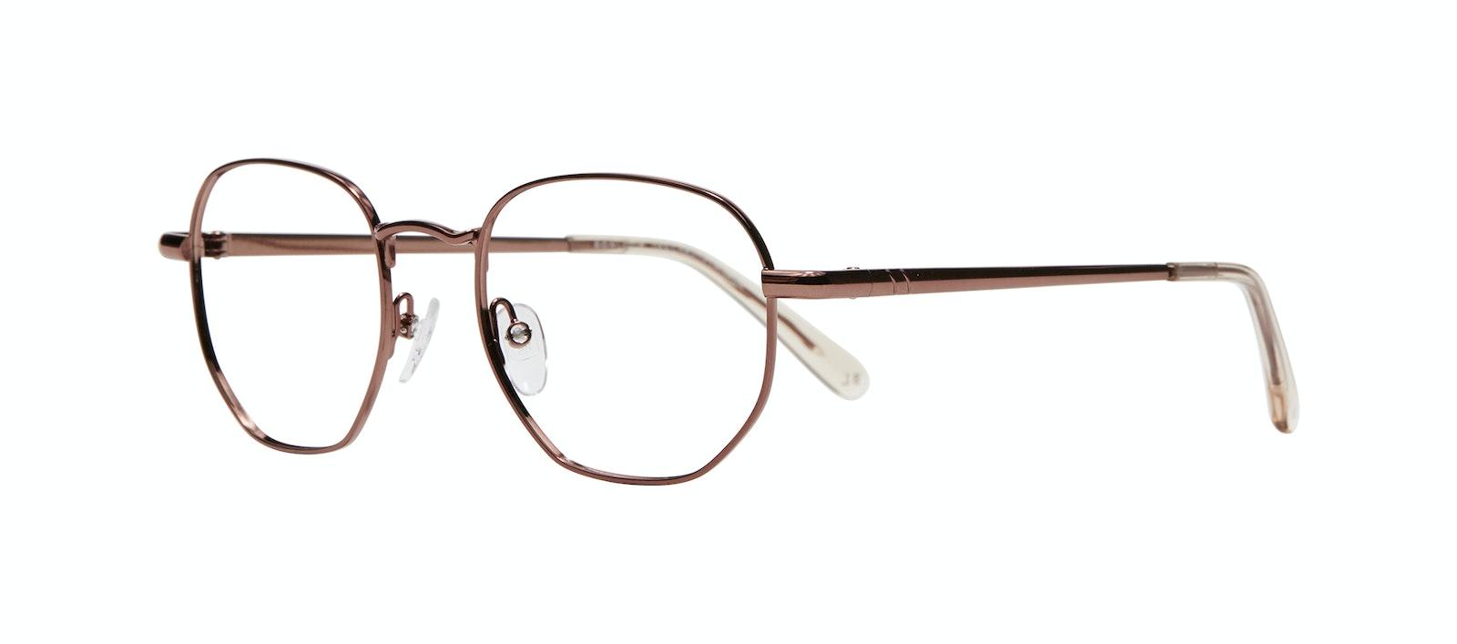 Affordable Fashion Glasses Round Eyeglasses Men Women Aura Copper Tilt