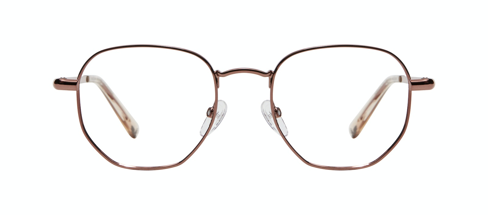 Affordable Fashion Glasses Round Eyeglasses Women Aura Copper Front