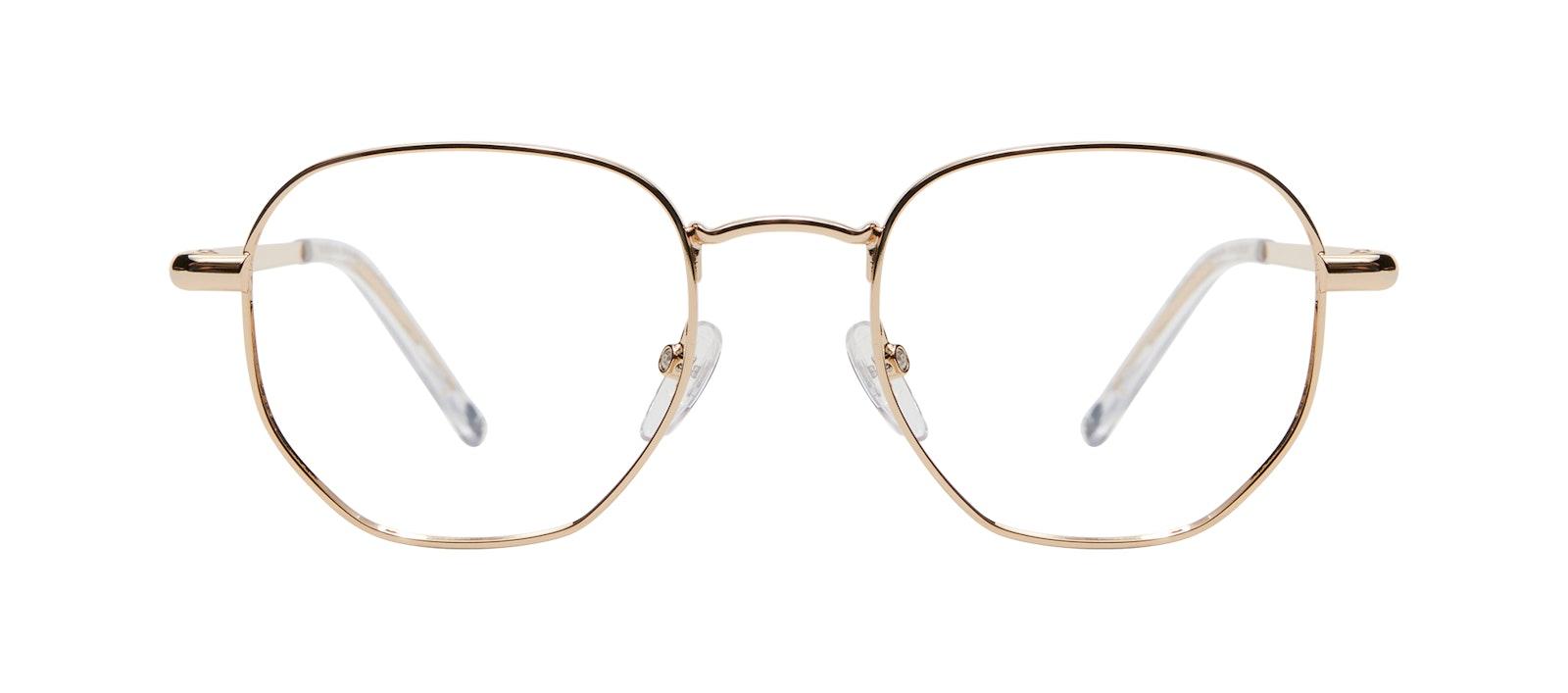 Affordable Fashion Glasses Round Eyeglasses Men Women Aura Gold Front