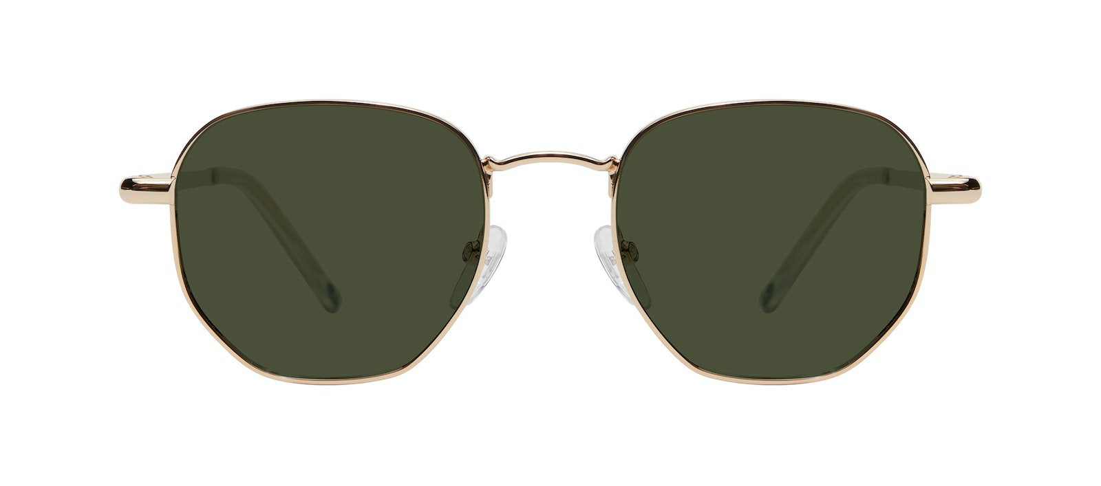 Affordable Fashion Glasses Round Sunglasses Men Women Aura Gold Front