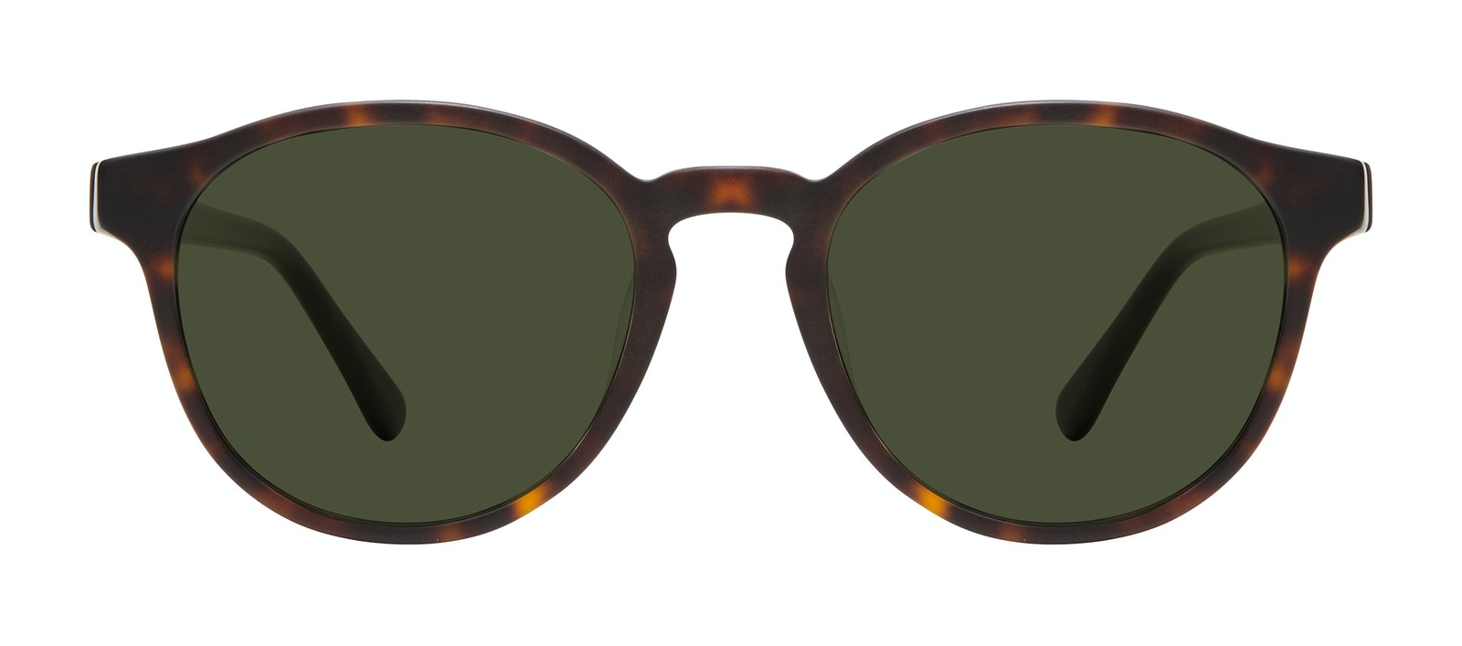 Affordable Fashion Glasses Round Sunglasses Men Aussie Matte Tortoise Front