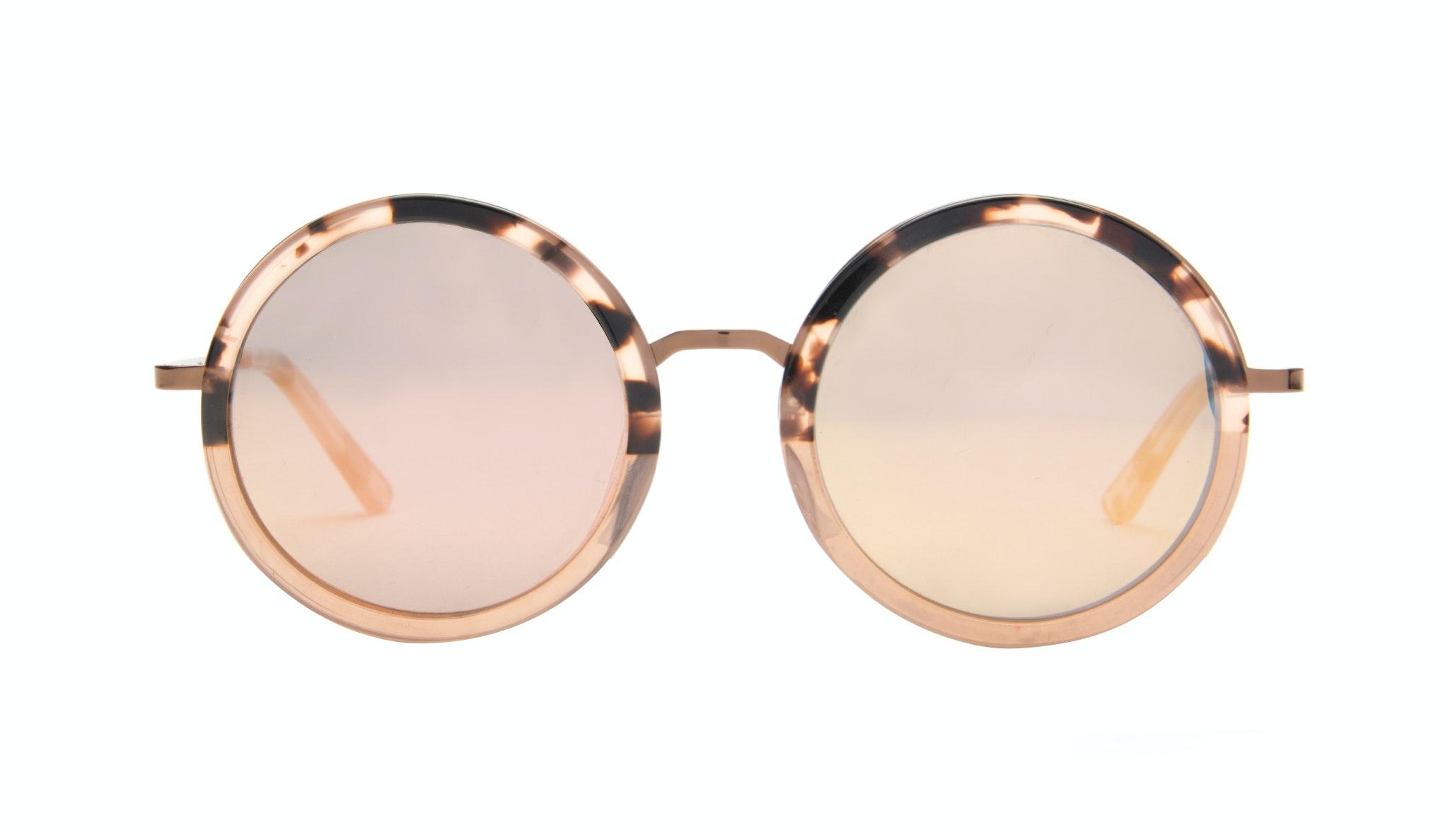 Affordable Fashion Glasses Round Sunglasses Women Balance Rose Tortoise