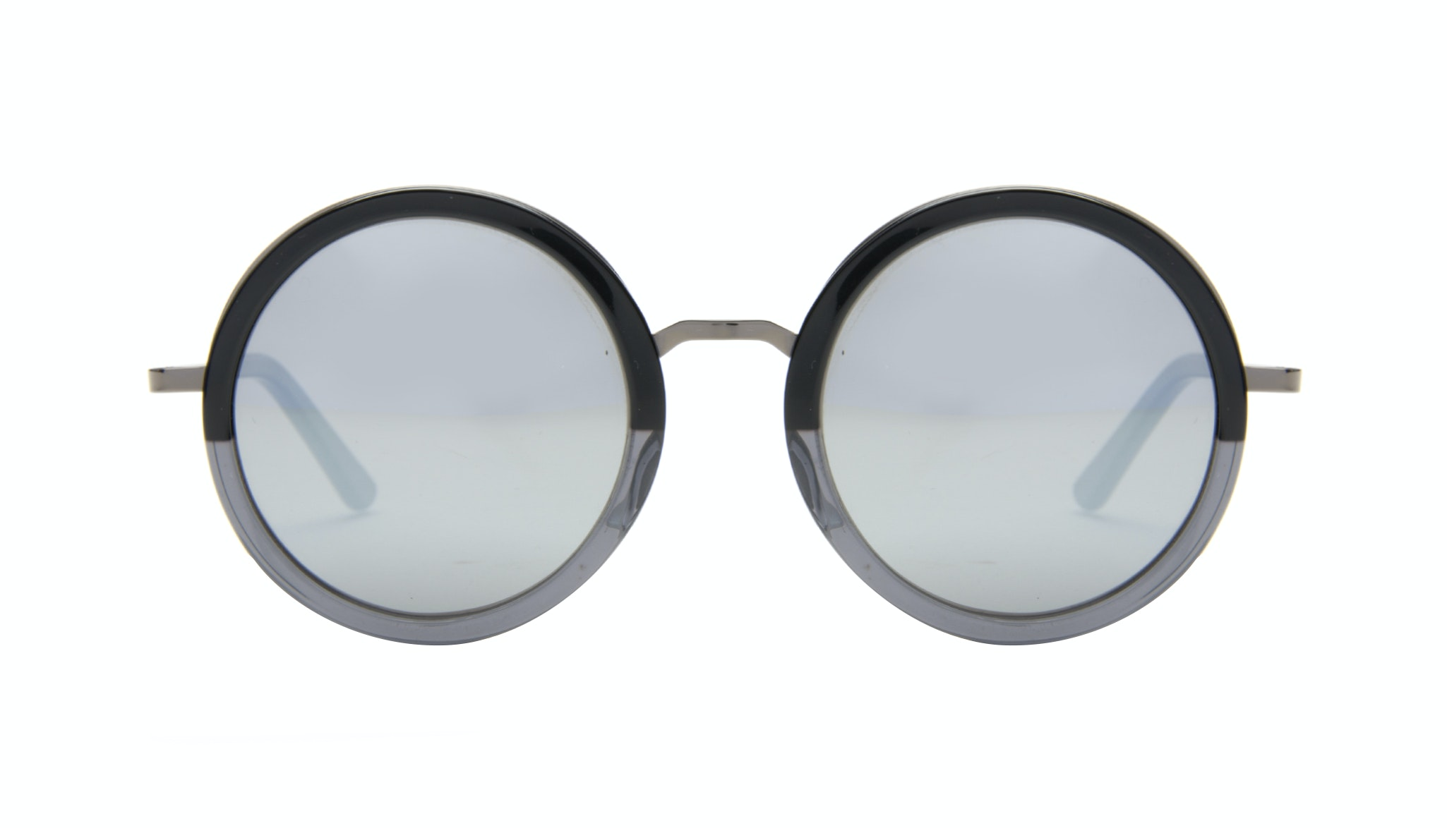 Affordable Fashion Glasses Round Sunglasses Women Balance shadow-black