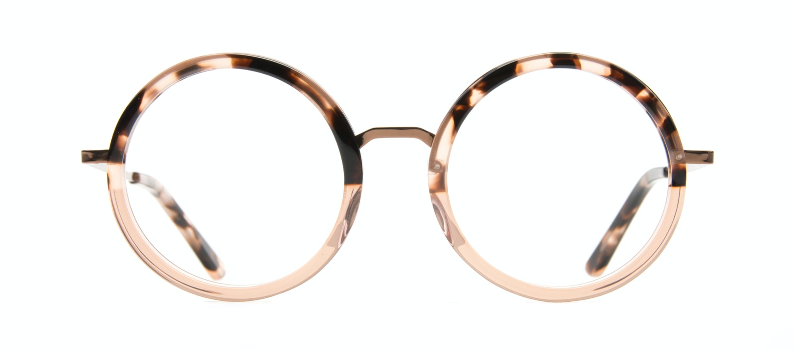 5645d2e170aa8 ... Affordable Fashion Glasses Round Eyeglasses Women Balance Rose Tortoise  Front ...