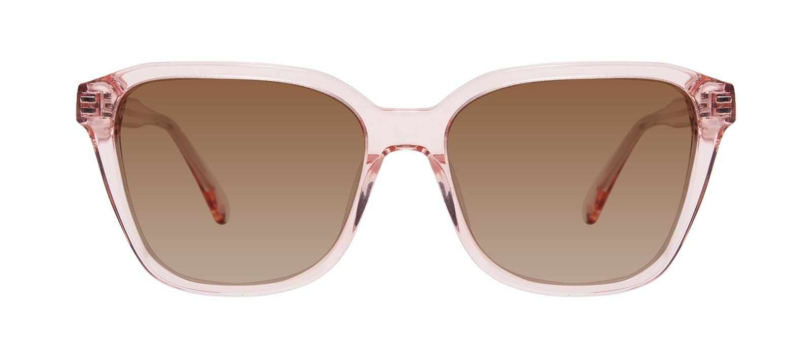 Affordable Fashion Glasses Square Sunglasses Women Basel Peony Front