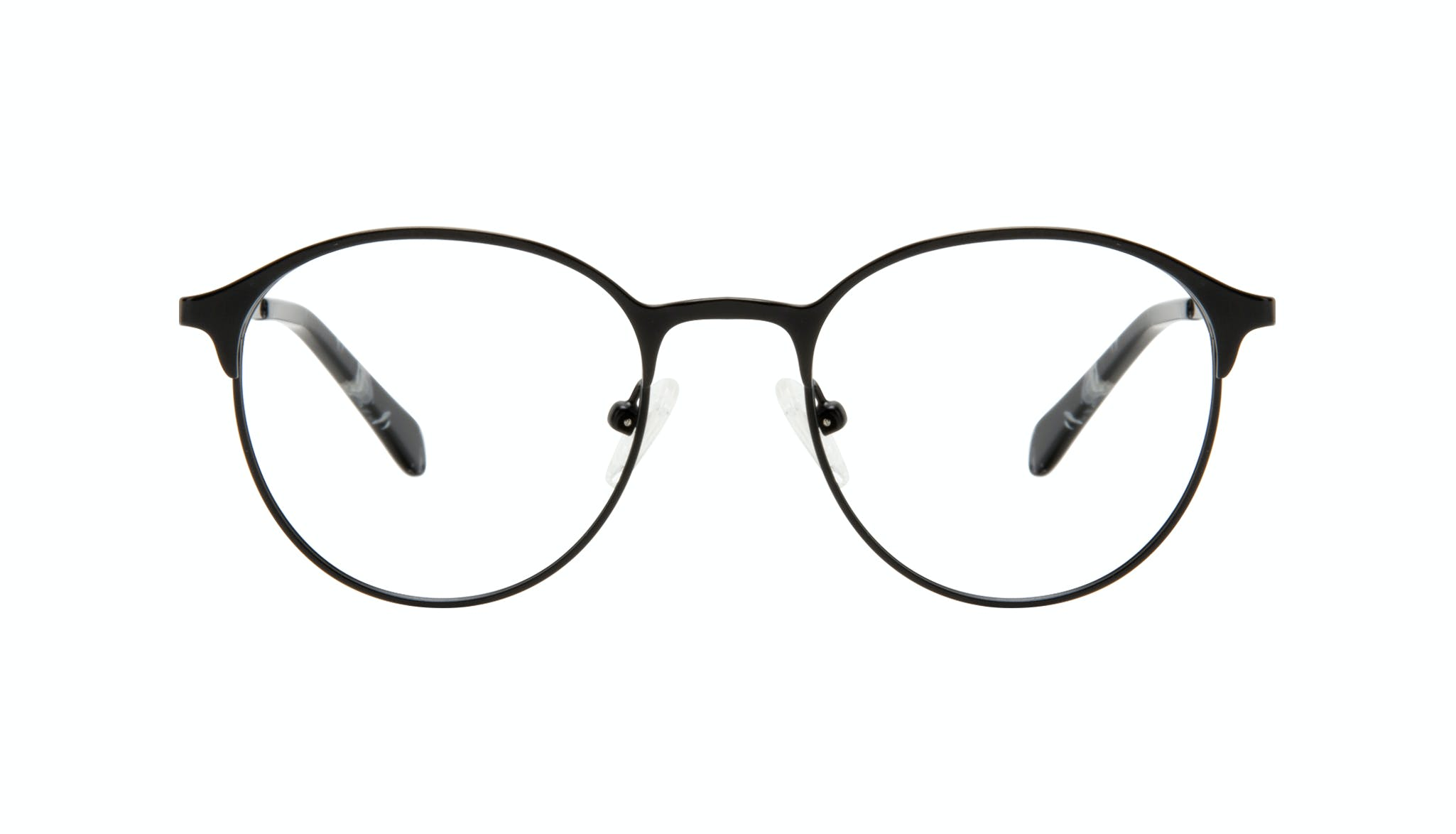 Affordable Fashion Glasses Round Eyeglasses Women Bay II Black Matte Front
