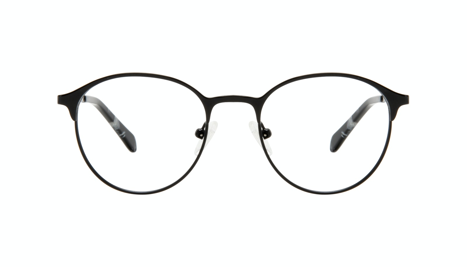Affordable Fashion Glasses Round Eyeglasses Women Bay II Black Matte