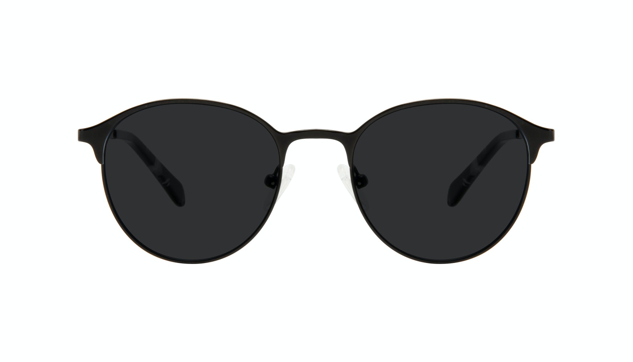 Affordable Fashion Glasses Round Sunglasses Women Bay II Black Matte Front