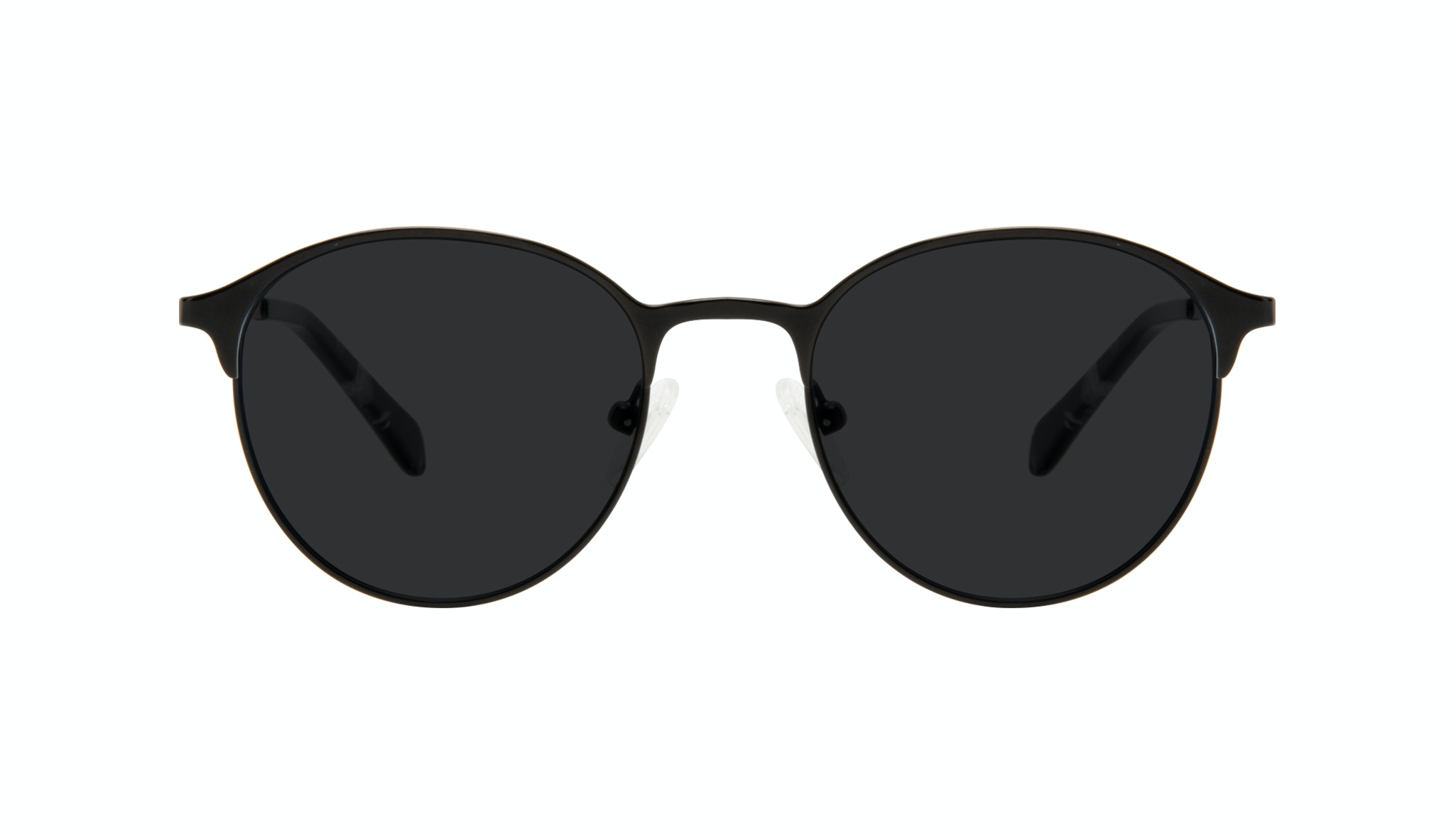 Affordable Fashion Glasses Round Sunglasses Women Bay II Black Matte