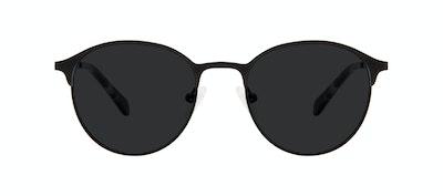 Affordable Fashion Glasses Round Sunglasses Women Bay II Black Matte Front
