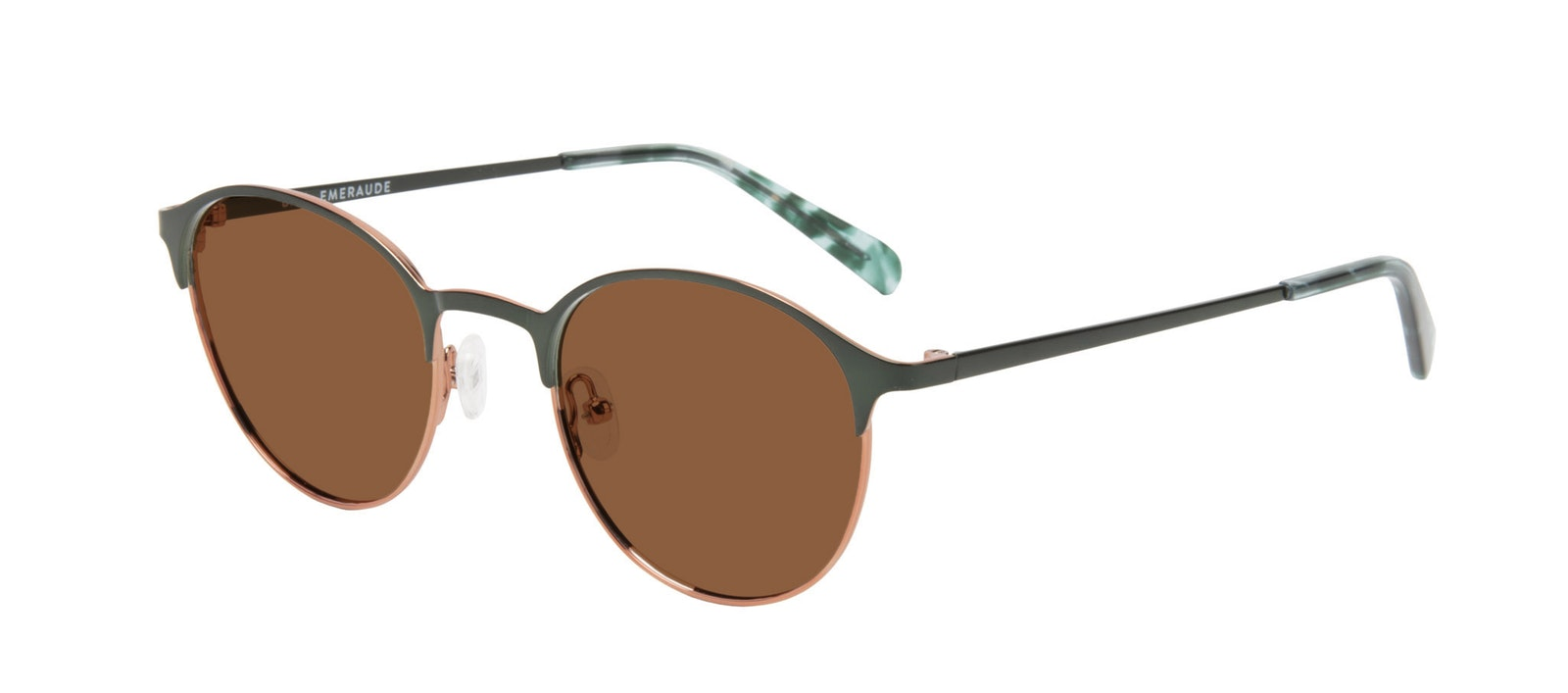 Affordable Fashion Glasses Round Sunglasses Women Bay II Emeraude Tilt