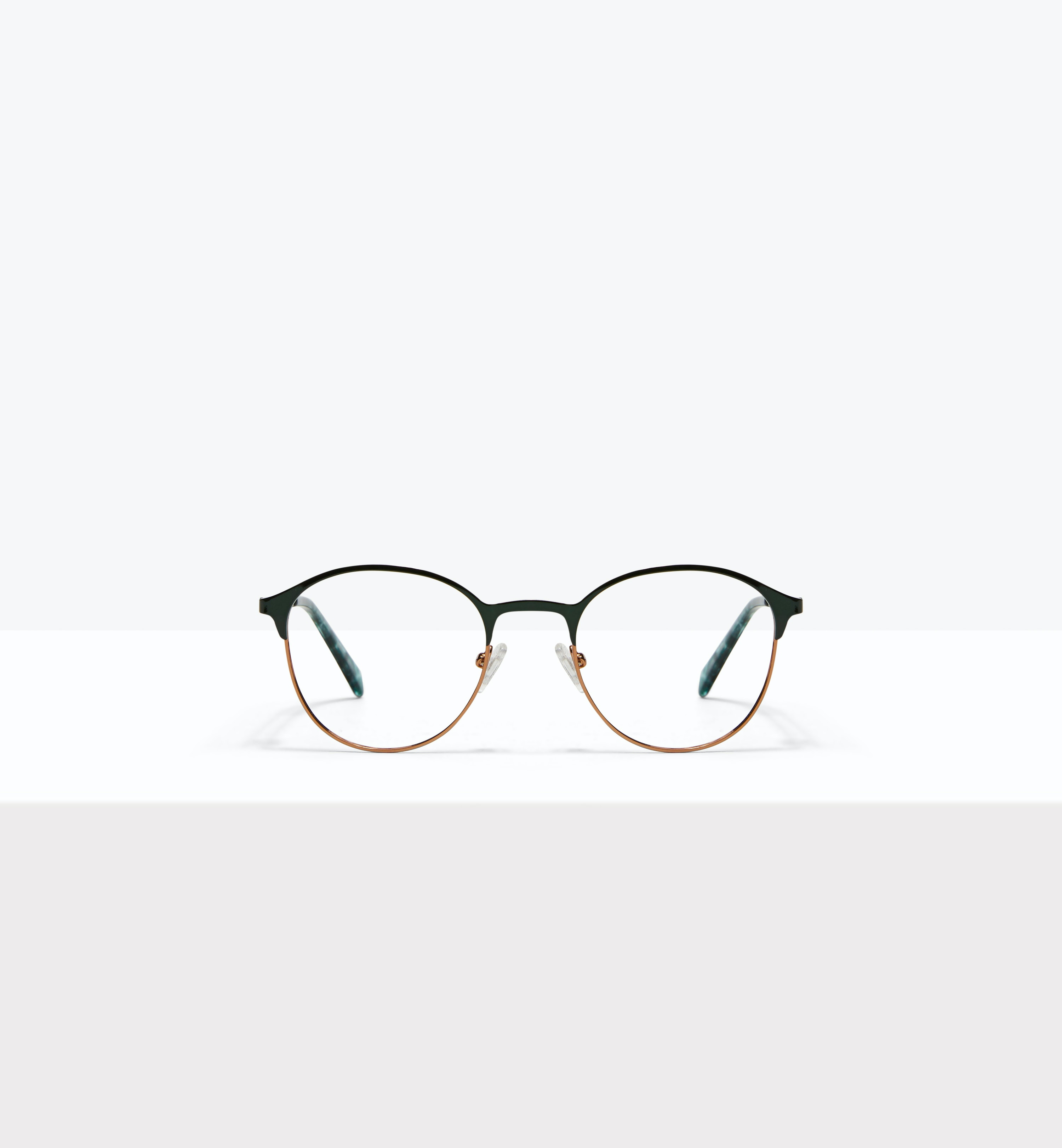 Affordable Fashion Glasses Round Eyeglasses Women Bay II Emeraude Front