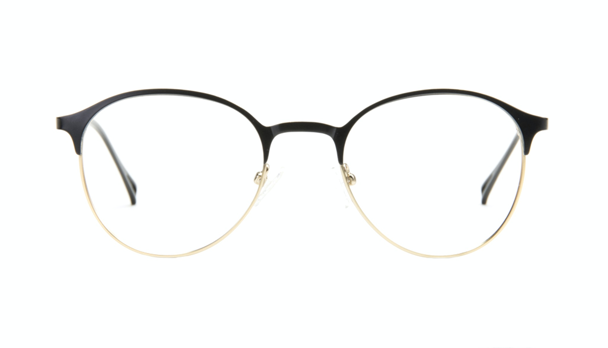Affordable Fashion Glasses Round Eyeglasses Women Bay Deep Gold Front