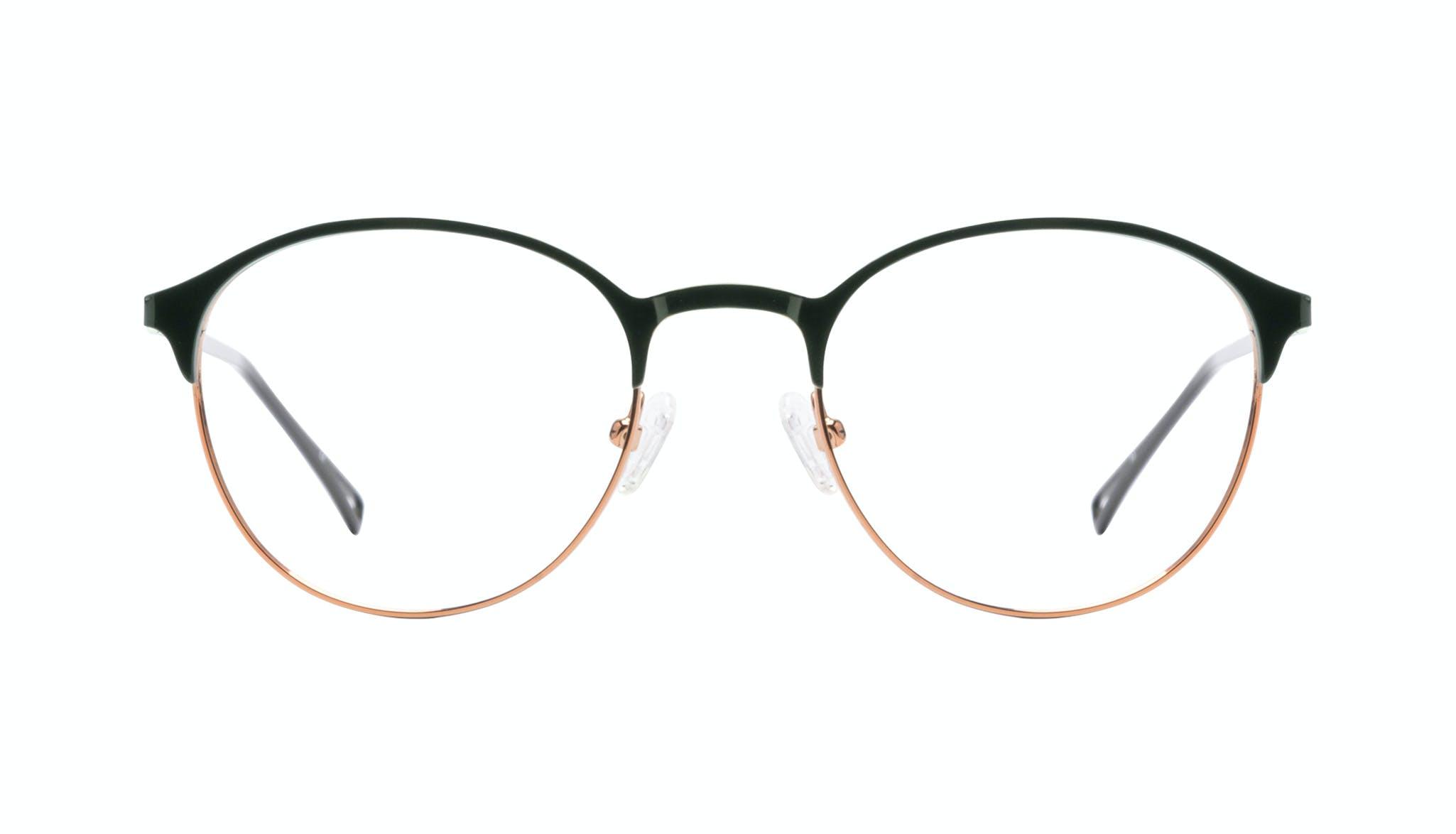 Affordable Fashion Glasses Round Eyeglasses Women Bay Emeraude Front
