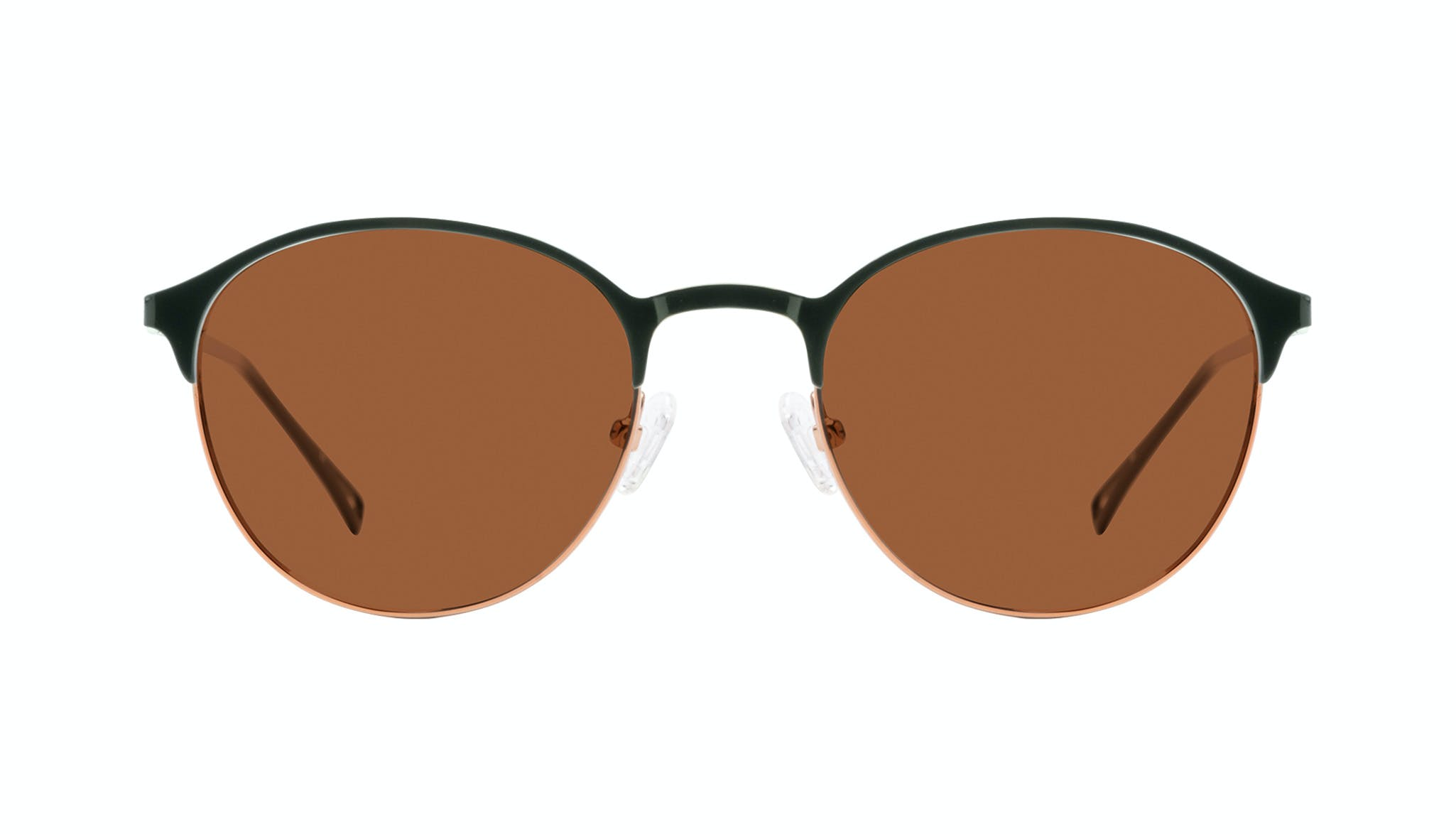 Affordable Fashion Glasses Round Sunglasses Women Bay Emeraude Front