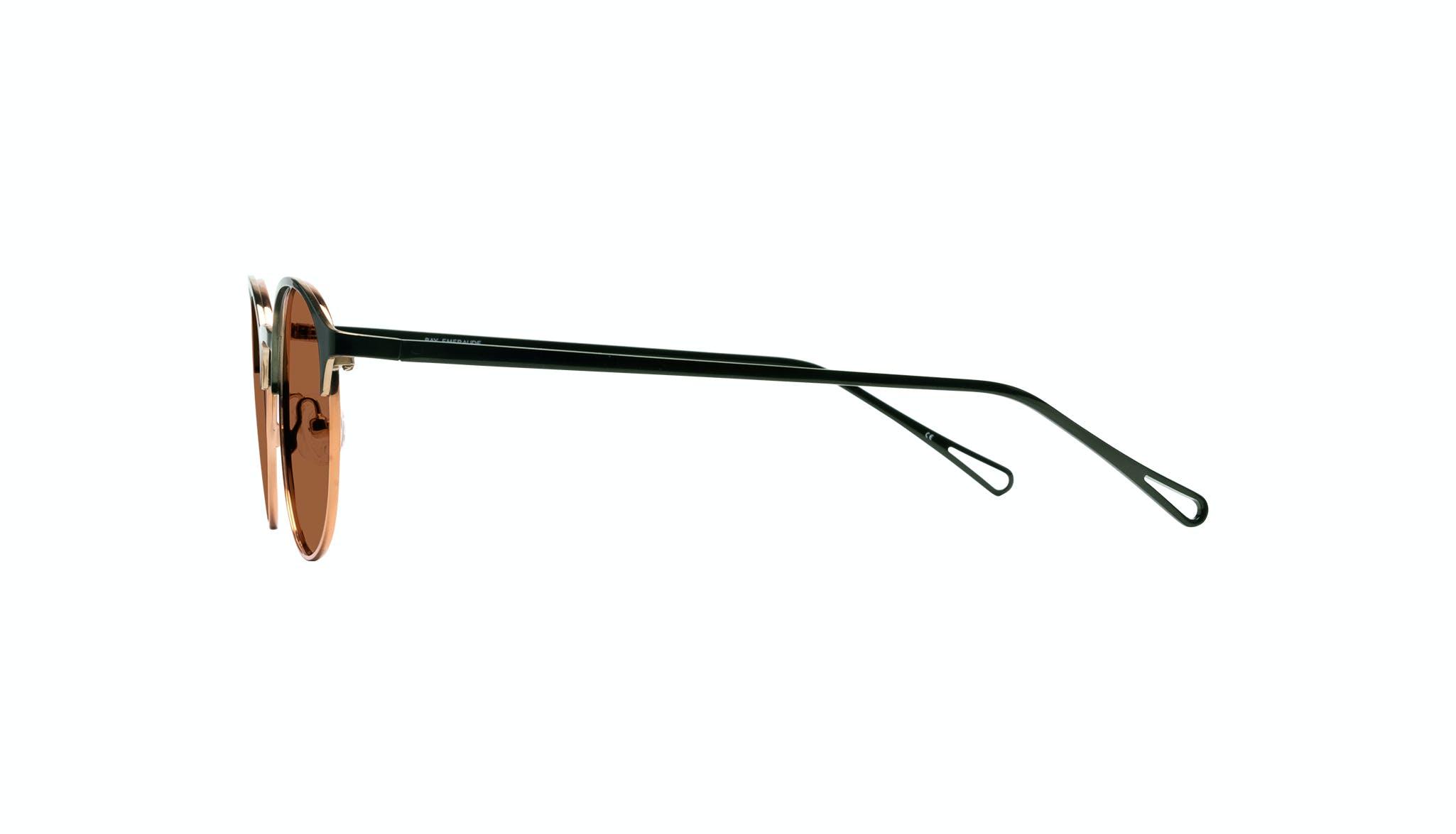 Affordable Fashion Glasses Round Sunglasses Women Bay Emeraude Side