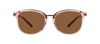 Affordable Fashion Glasses Square Round Sunglasses Women Bella XS Rose Front