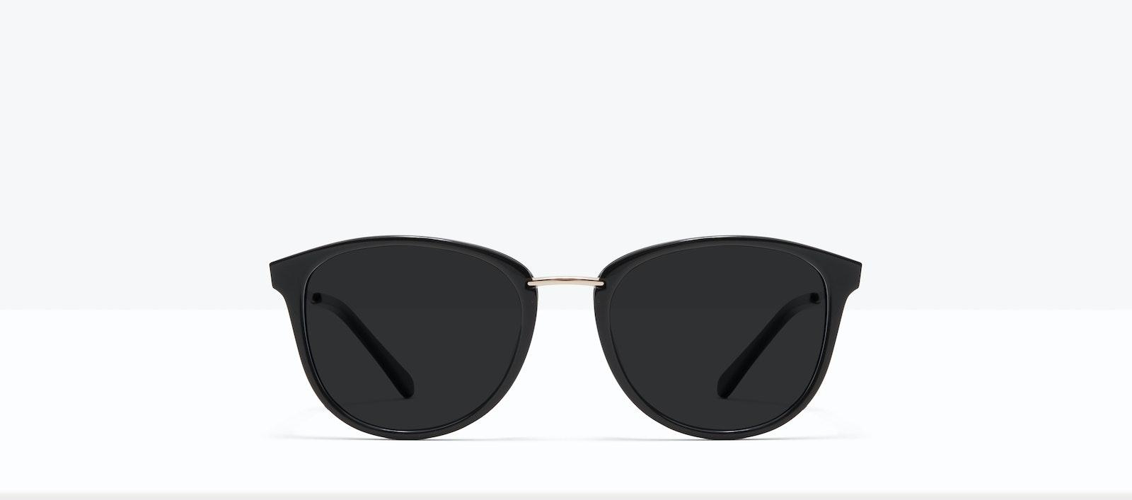 Affordable Fashion Glasses Square Round Sunglasses Women Bella XS Black Front