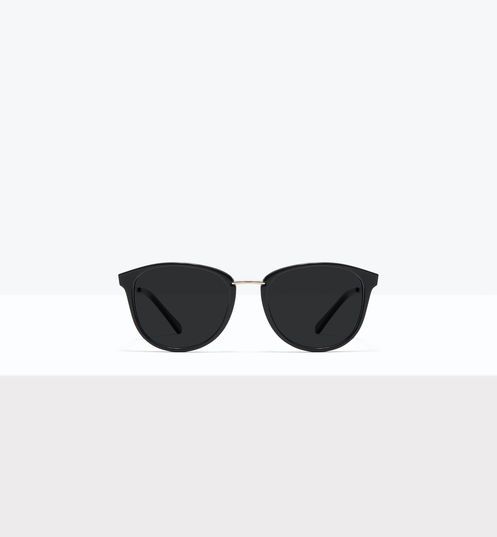 Affordable Fashion Glasses Square Round Sunglasses Women Bella XS Black