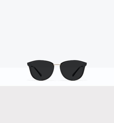 Affordable Fashion Glasses Square Round Sunglasses Women Bella M Black Front