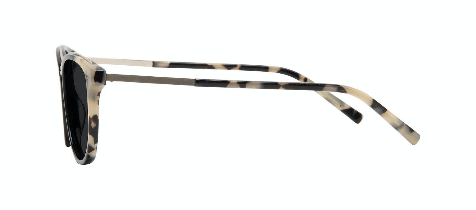 Affordable Fashion Glasses Square Round Sunglasses Women Bella Ebony Granite Side