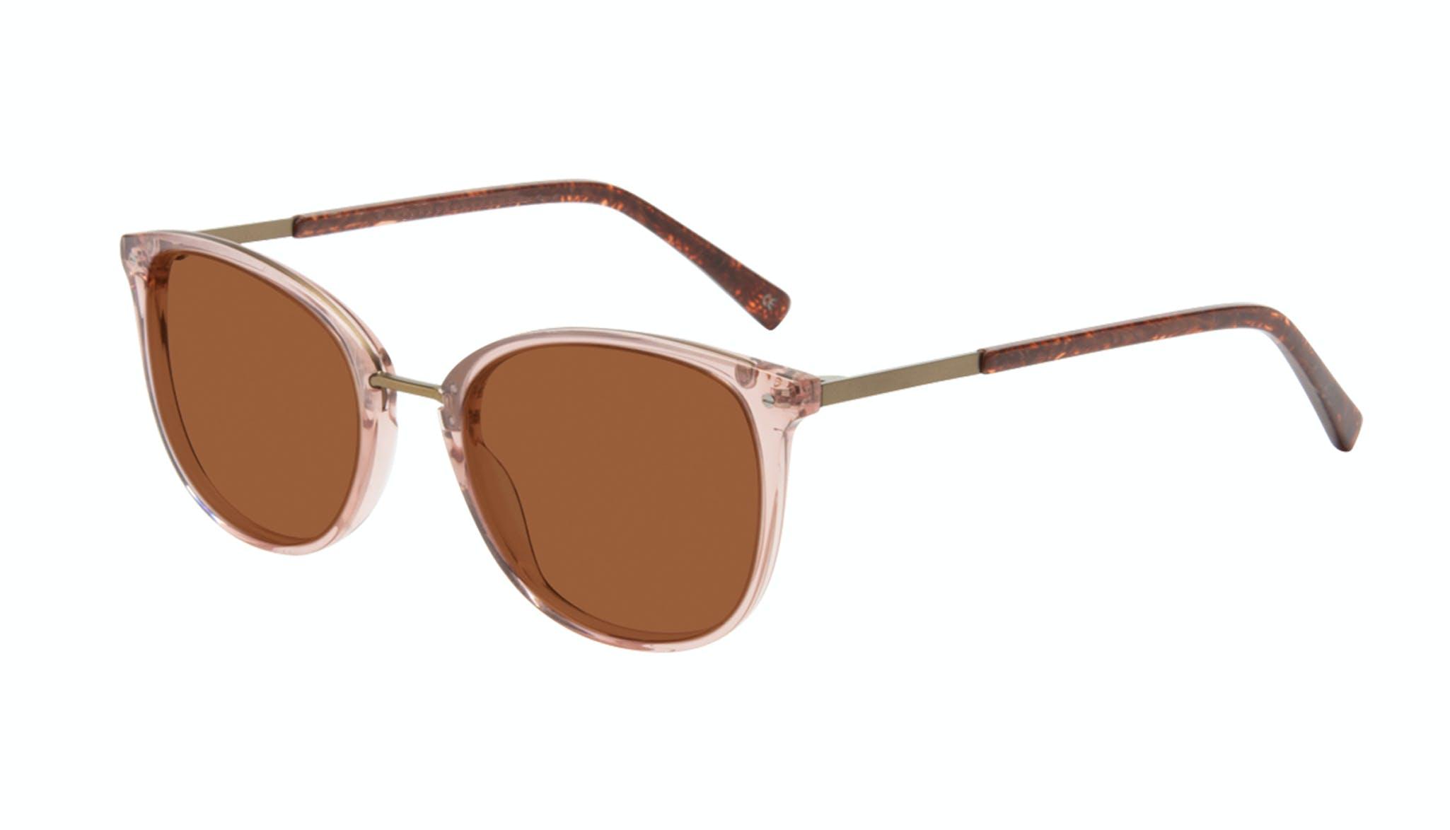 Affordable Fashion Glasses Square Round Sunglasses Women Bella Rose Tilt