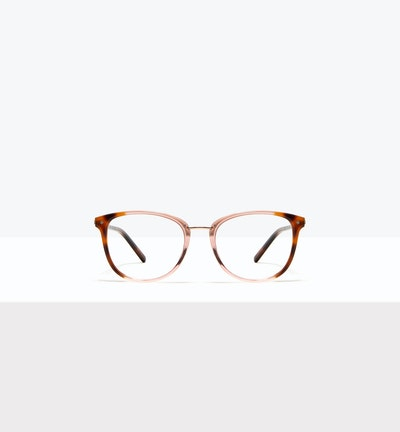 Affordable Fashion Glasses Square Round Eyeglasses Women Bella Rose Tort Front