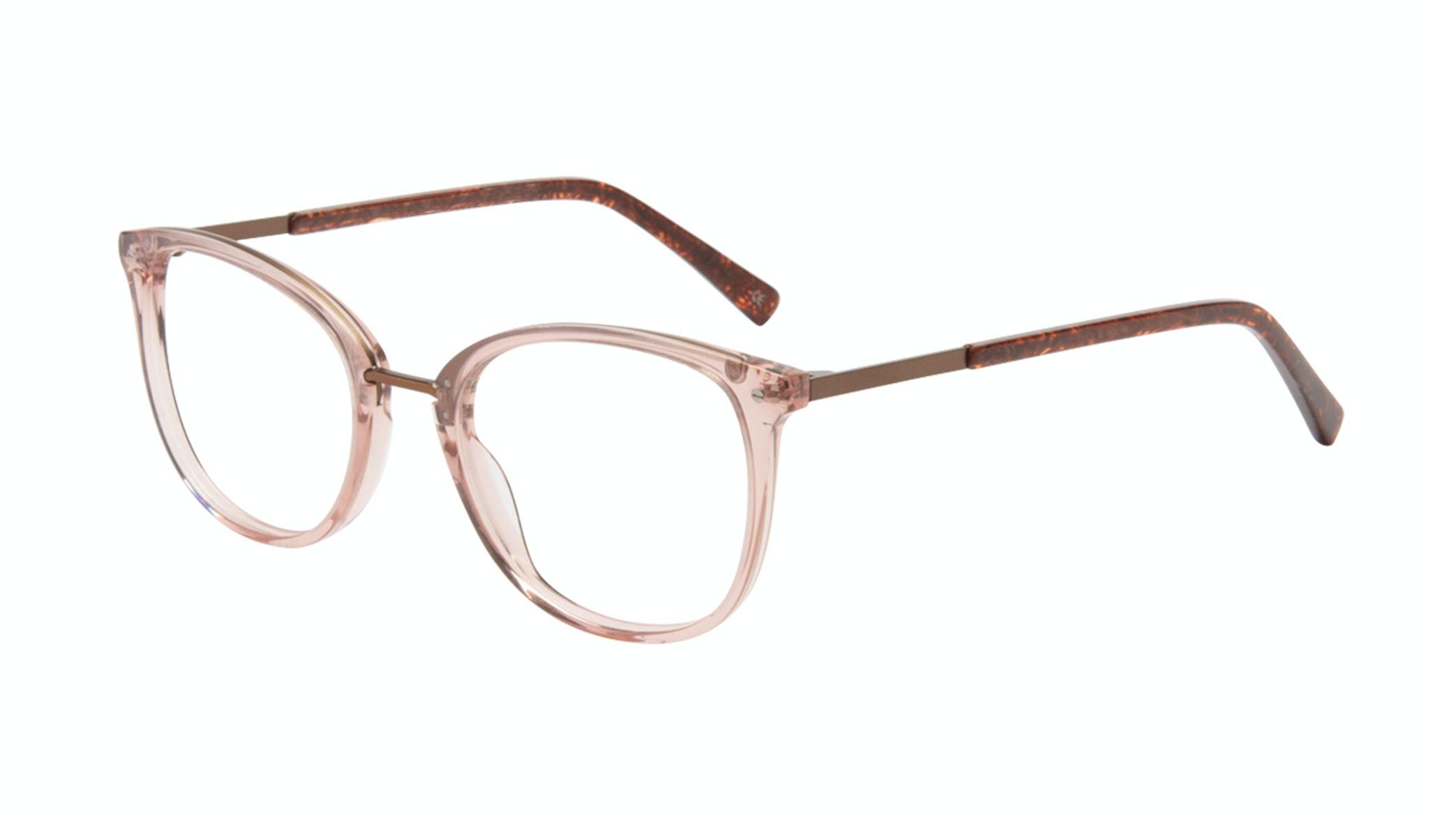 Affordable Fashion Glasses Square Round Eyeglasses Women Bella Rose Tilt
