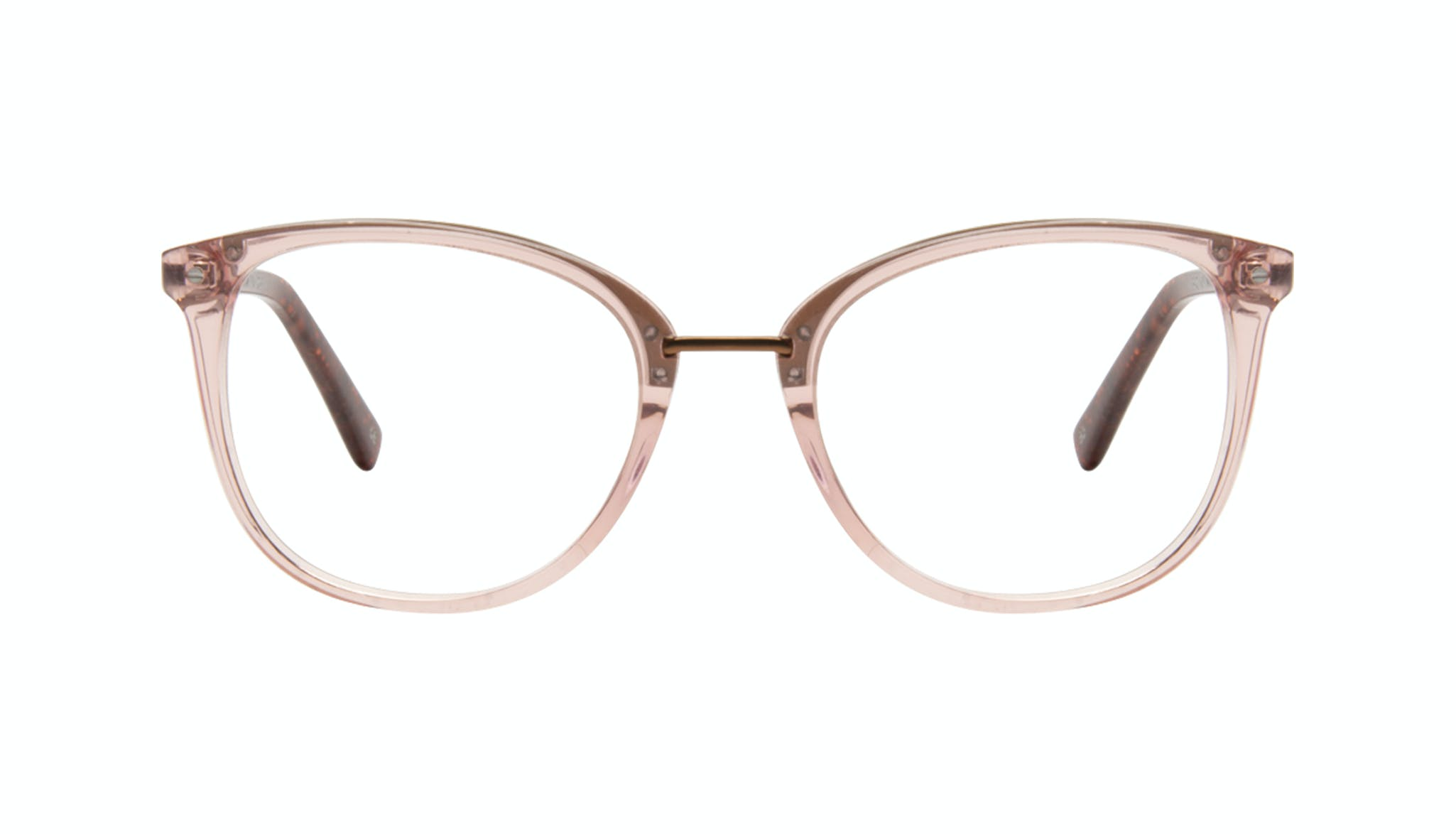Affordable Fashion Glasses Square Round Eyeglasses Women Bella Rose Front