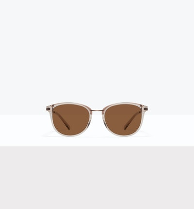 Affordable Fashion Glasses Square Round Sunglasses Women Bella M Sand Front