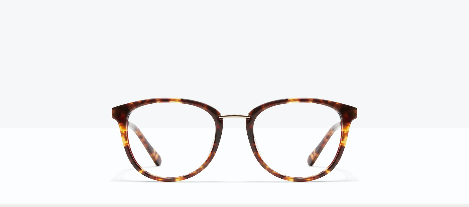 Affordable Fashion Glasses Square Round Eyeglasses Women Bella M Sepia Kiss Front