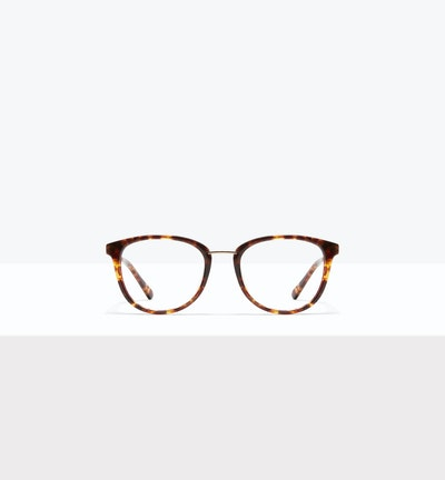Affordable Fashion Glasses Square Round Eyeglasses Women Bella XS Sepia Kiss Front