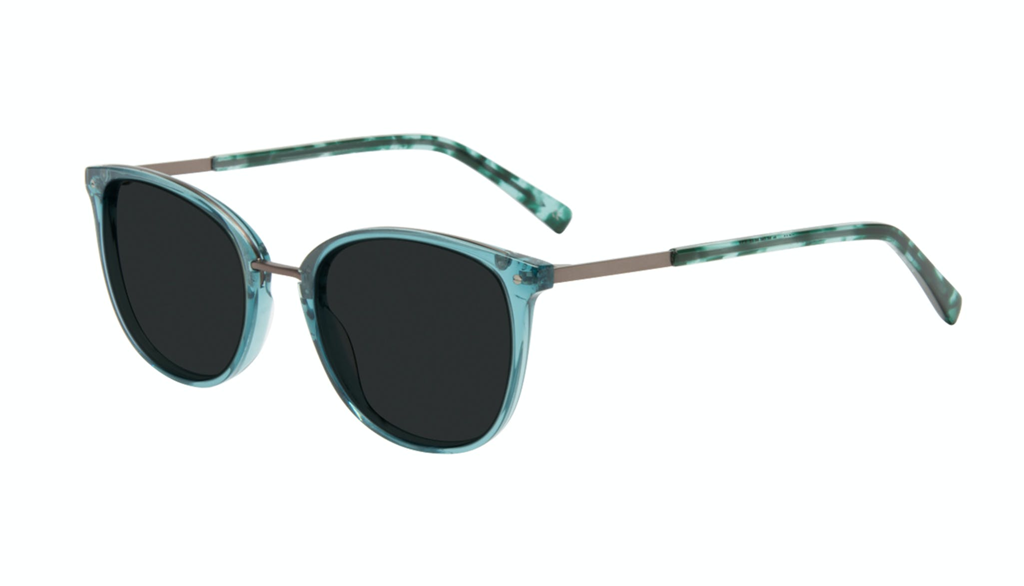 Affordable Fashion Glasses Square Round Sunglasses Women Bella Teal Tilt