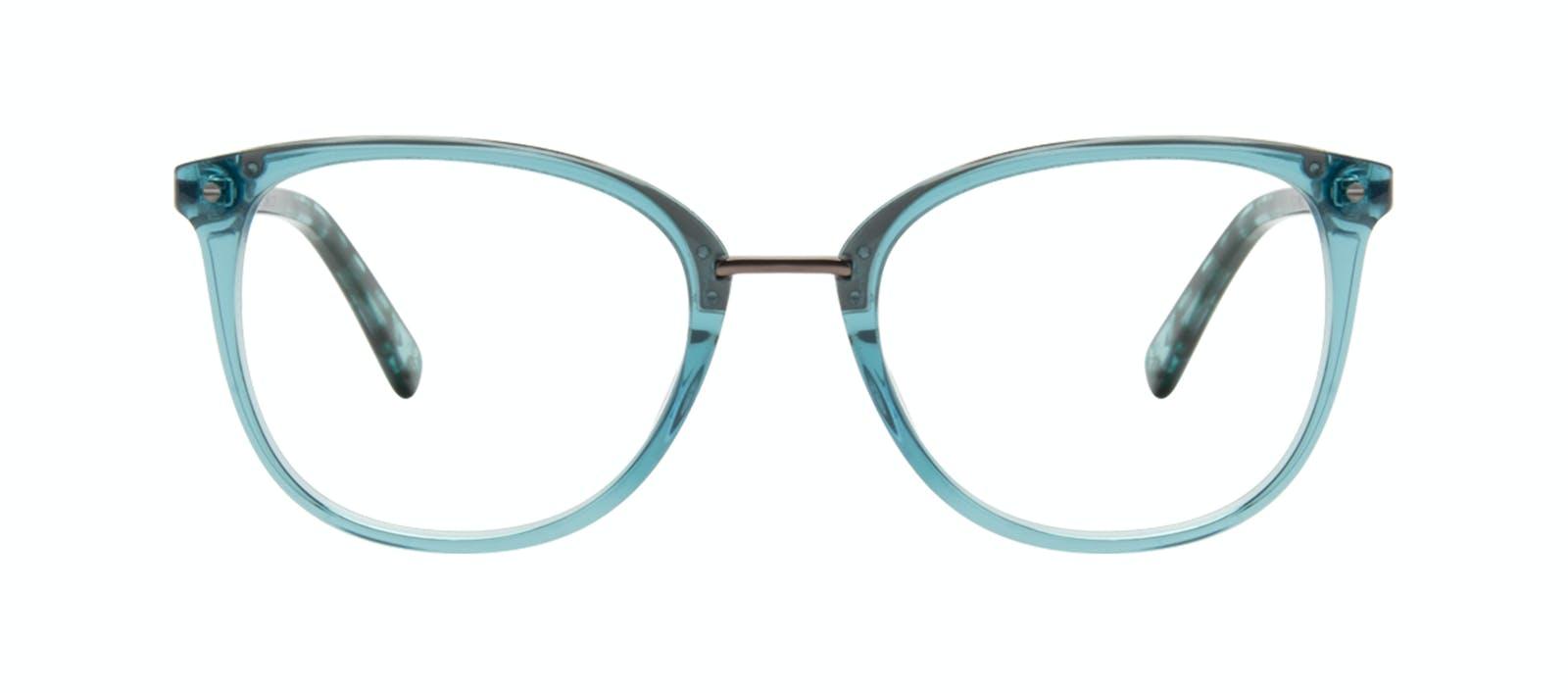 06b94d5ff6 Affordable Fashion Glasses Square Round Eyeglasses Women Bella Teal Front