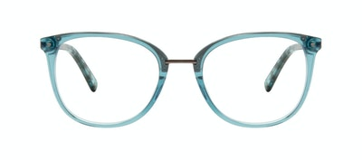 Affordable Fashion Glasses Square Round Eyeglasses Women Bella Teal Front
