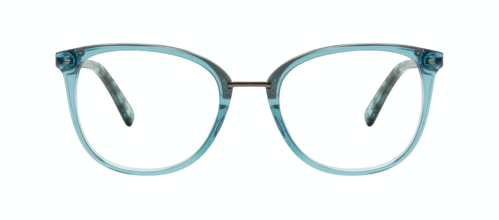 46ae96cd11b Affordable Fashion Glasses Square Round Eyeglasses Women Bella Teal Front