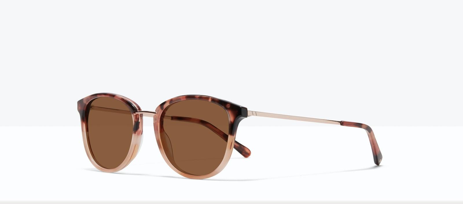 Affordable Fashion Glasses Square Round Sunglasses Women Bella M Two Tone Pink Tort Tilt