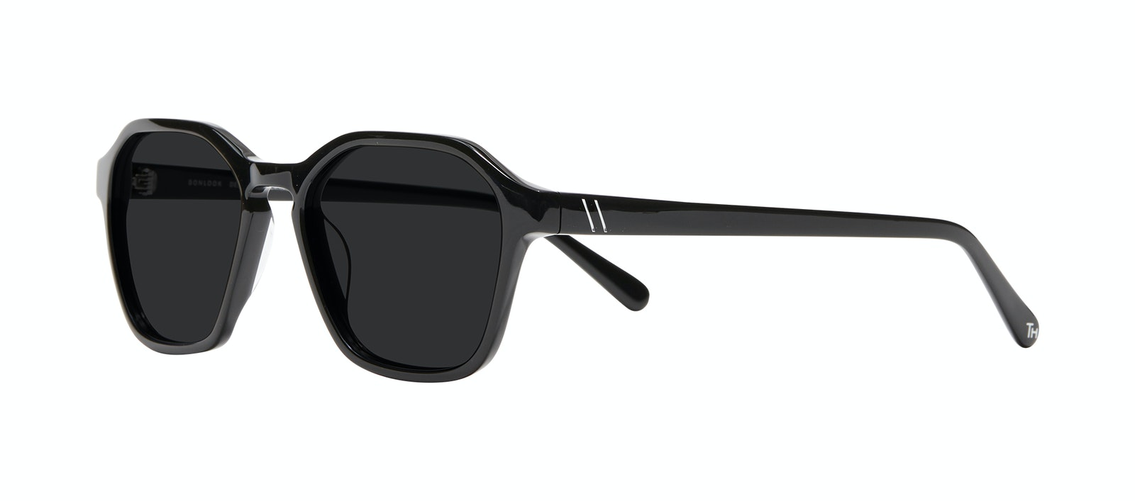 Affordable Fashion Glasses Square Sunglasses Men Birdie Black Tilt