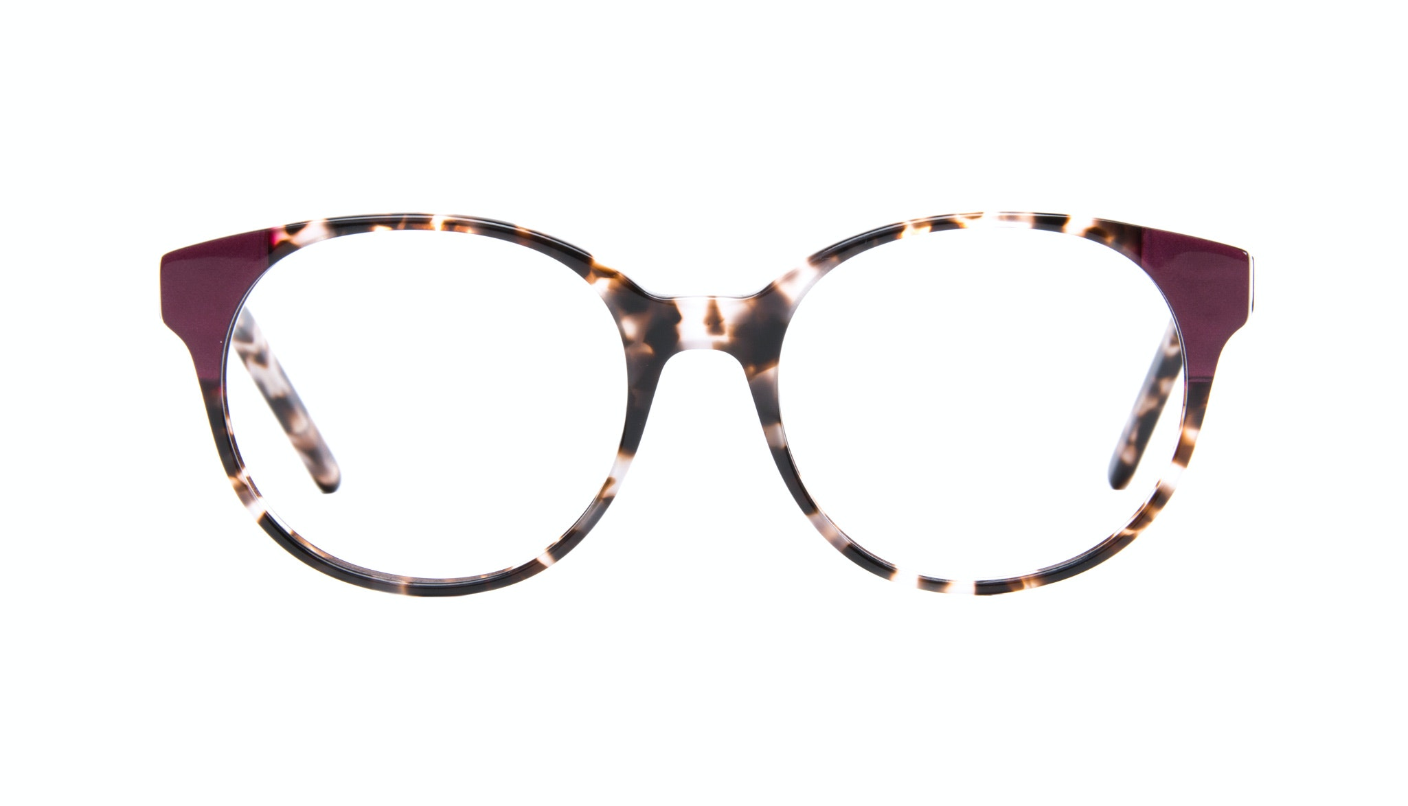 Affordable Fashion Glasses Round Eyeglasses Women Bis Mocha Plum Front