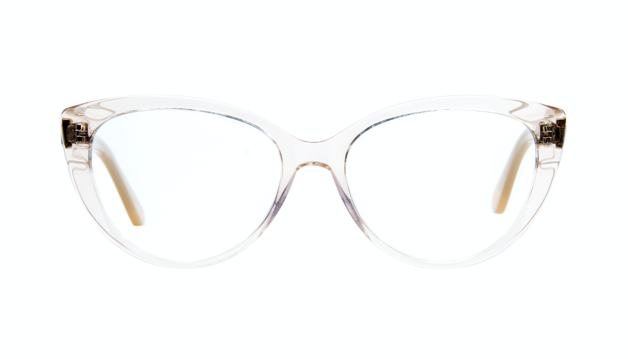 Affordable Fashion Glasses Cat Eye Eyeglasses Women Bliss Blond Metal Front