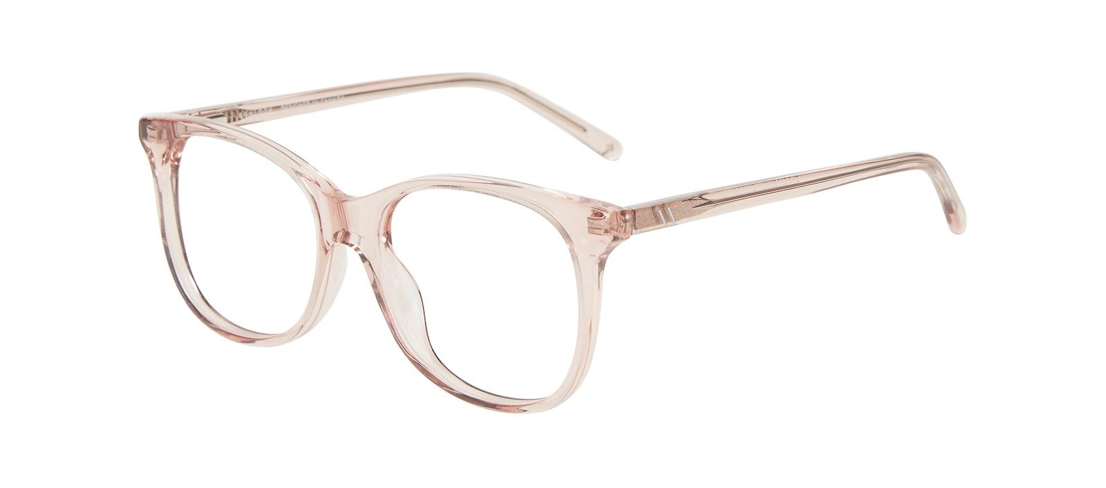 Affordable Fashion Glasses Square Eyeglasses Kids Bloom Junior Pink Tilt